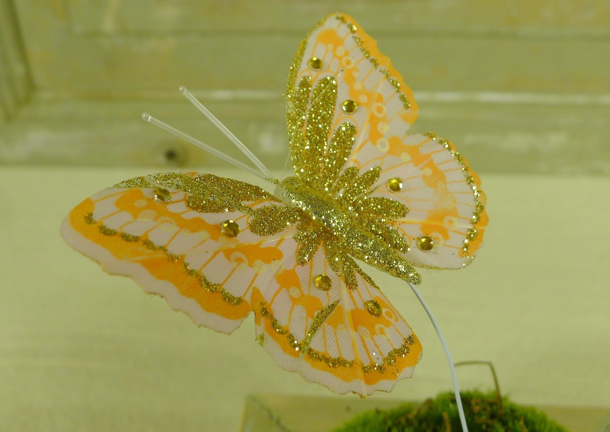 flor dec fabric butterfly 7.5 orange-7