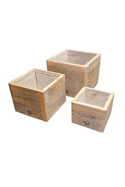 Wooden pot square