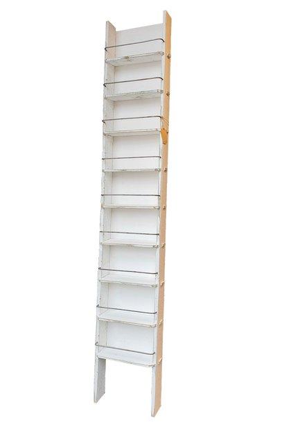 spice rack old white