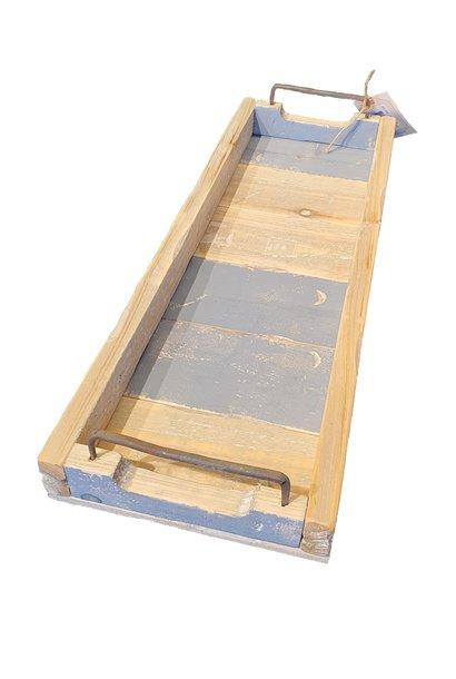 tray rectangular blue