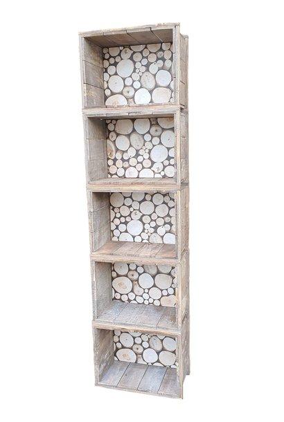 closet of boxes