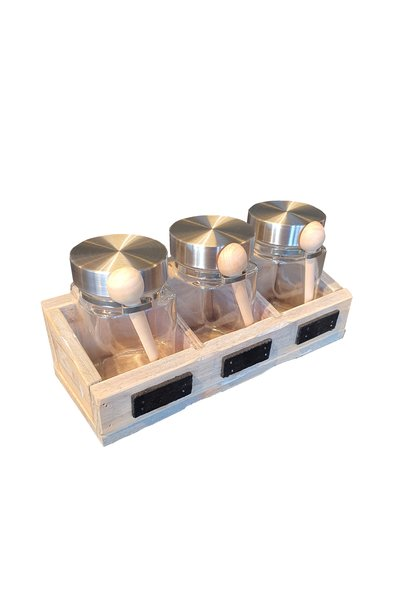tray for 3 jars