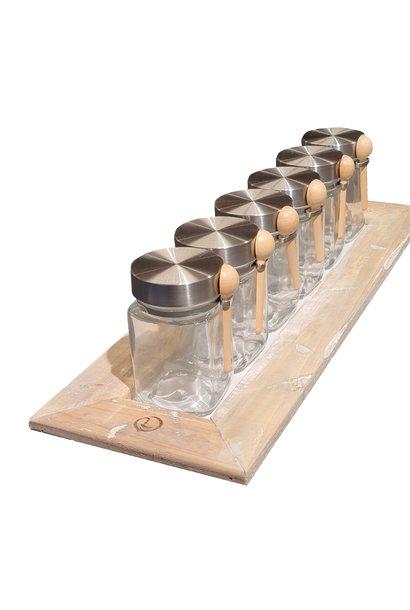 tray 6 Gläser
