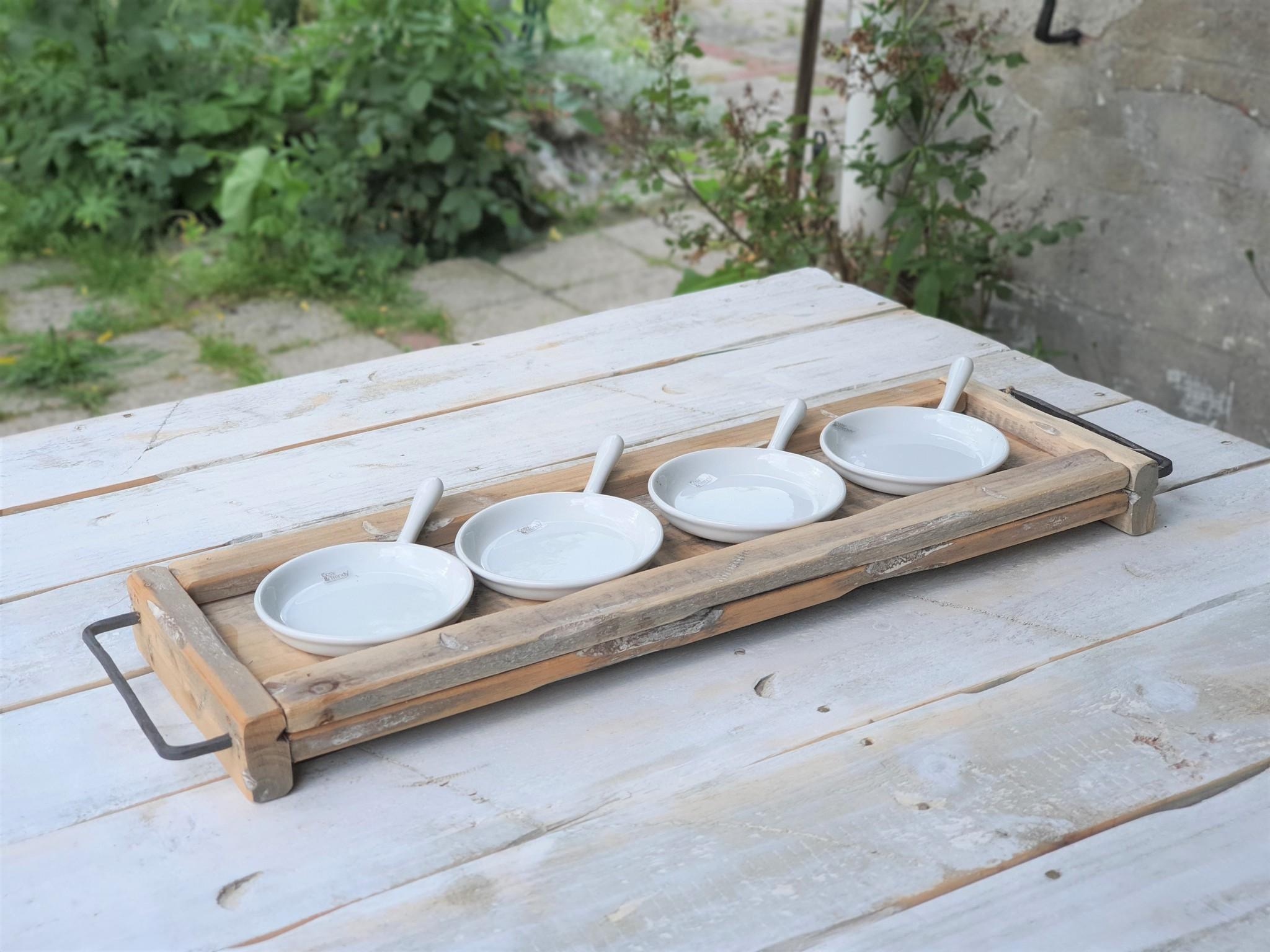 pot ceramic tapas plate white 15-2