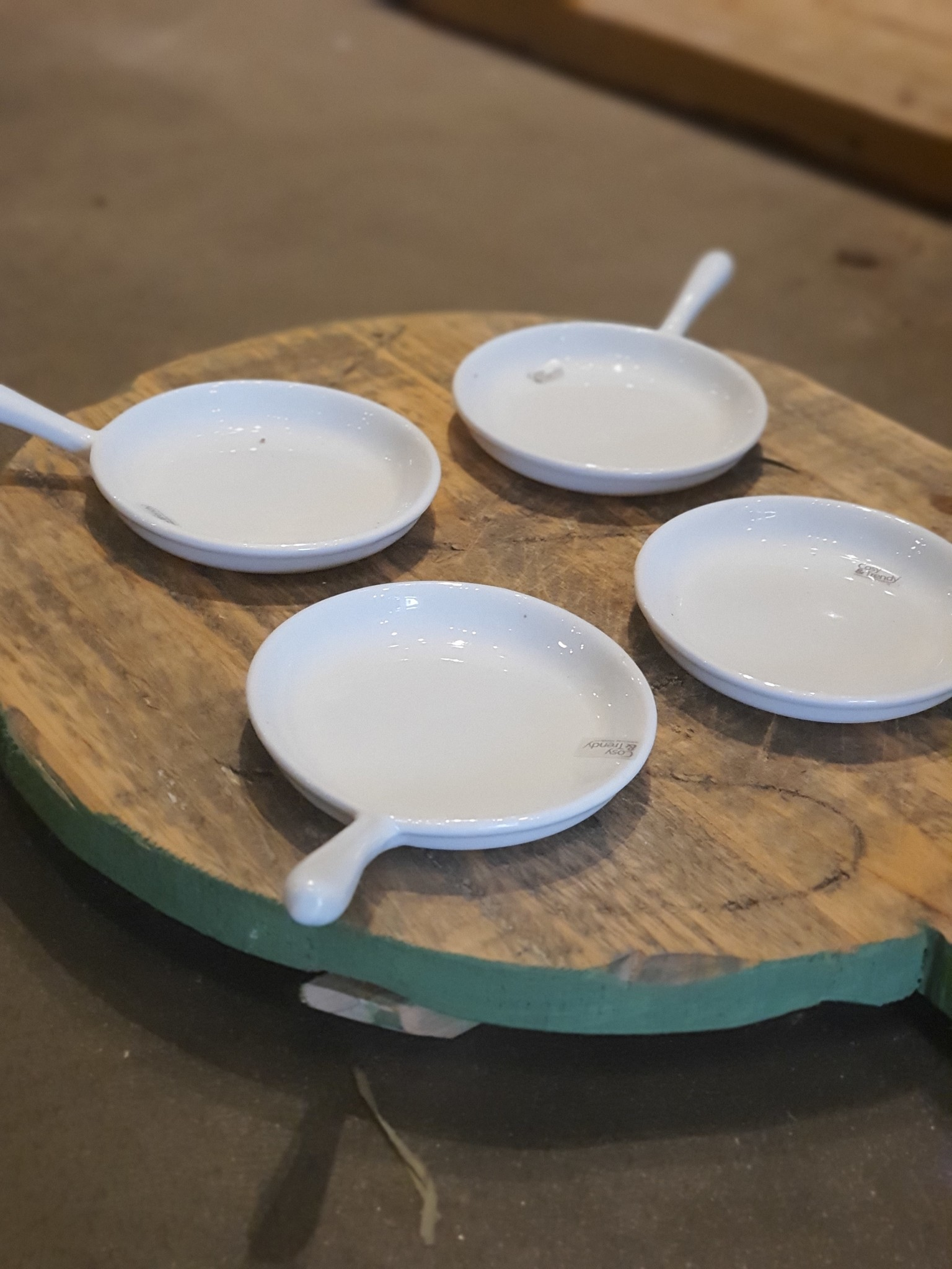 pot ceramic tapas plate white 15-3