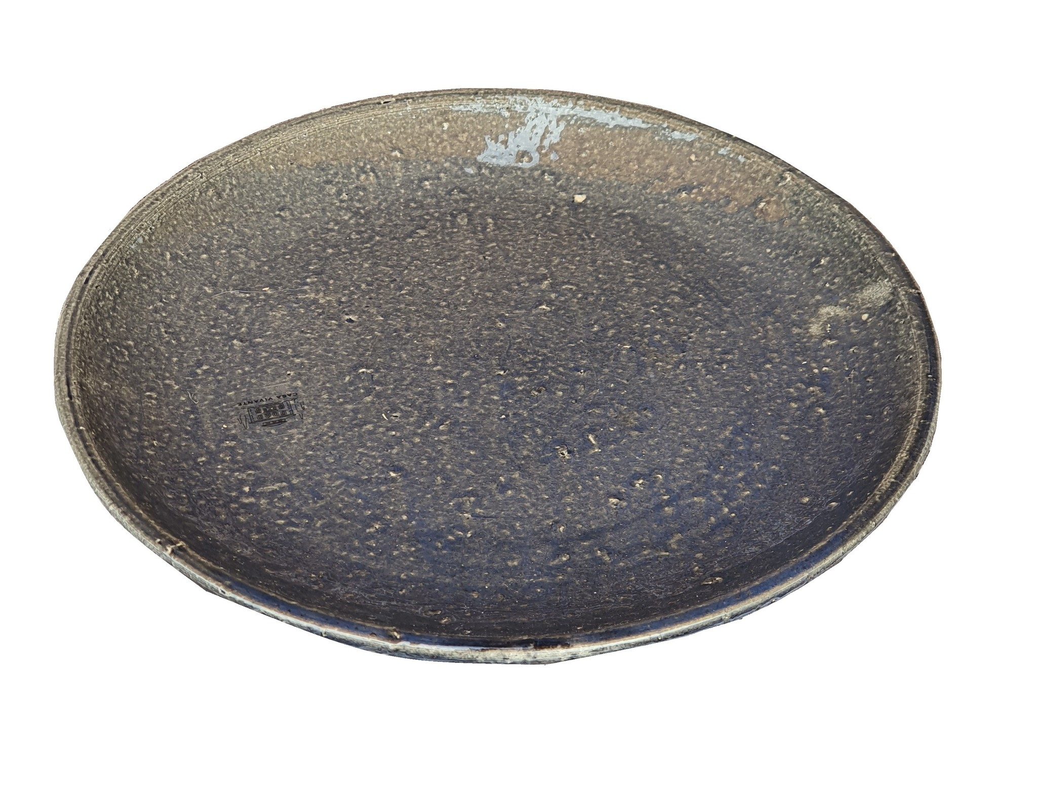 pot ceramic plate blue casa vivant 23-1