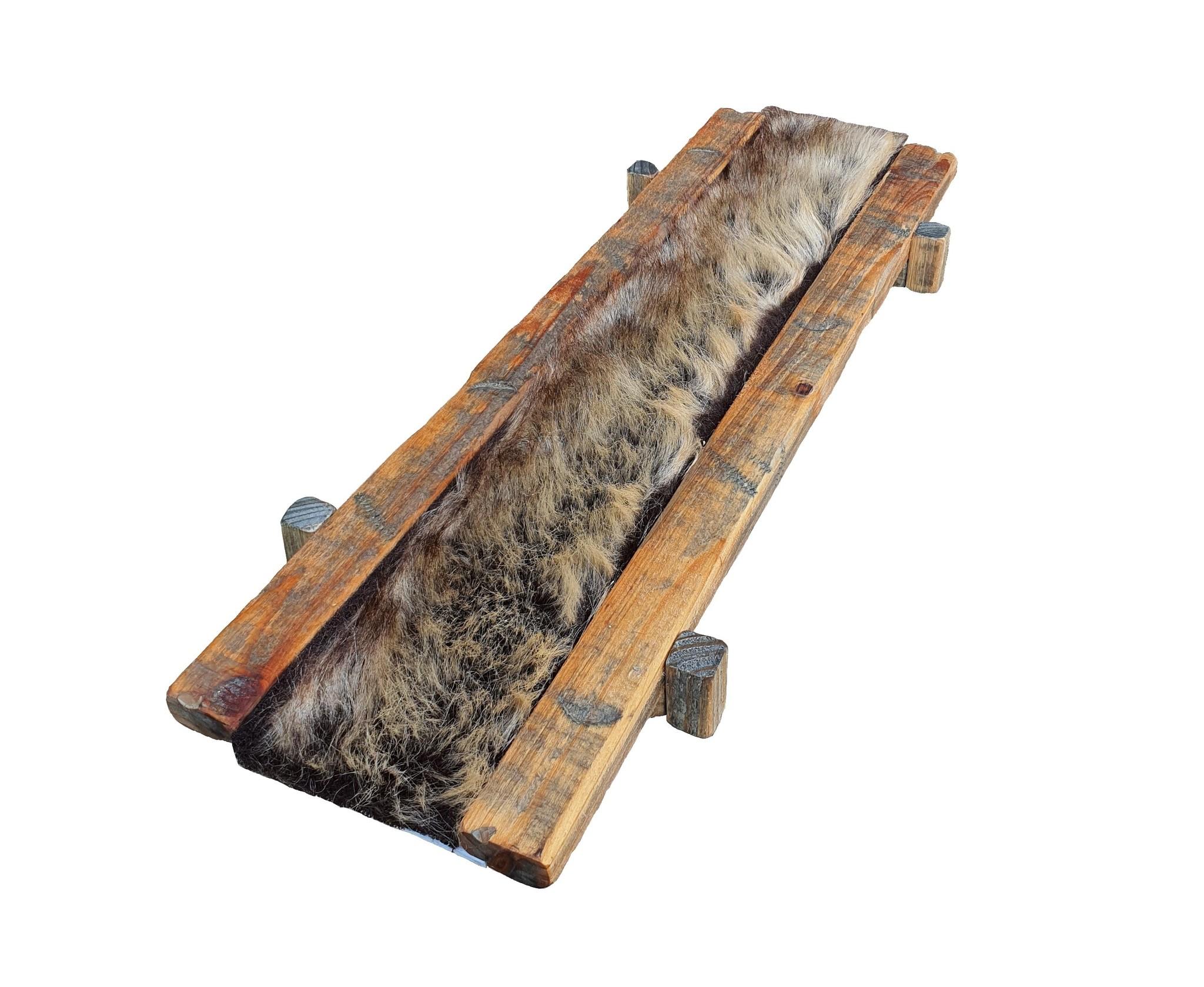 decoration fabric fur brown 100cm-2