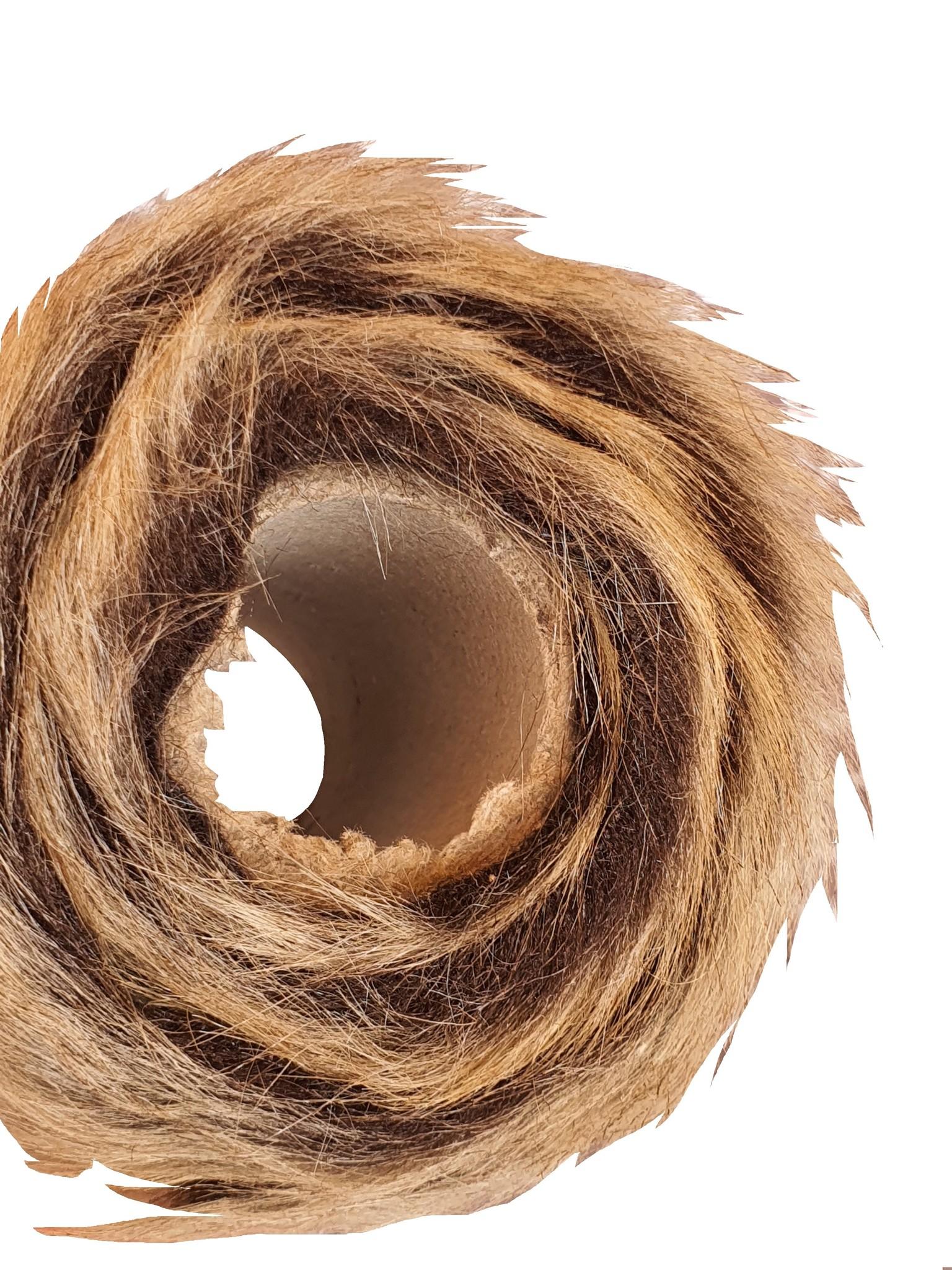 decoration fabric fur brown 100cm-4