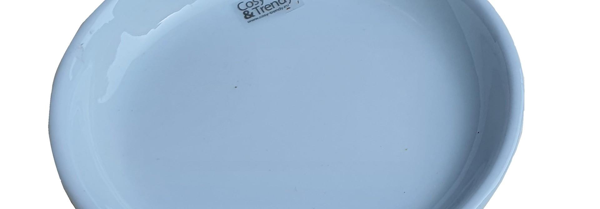 pot ceramic tapas plate white 15