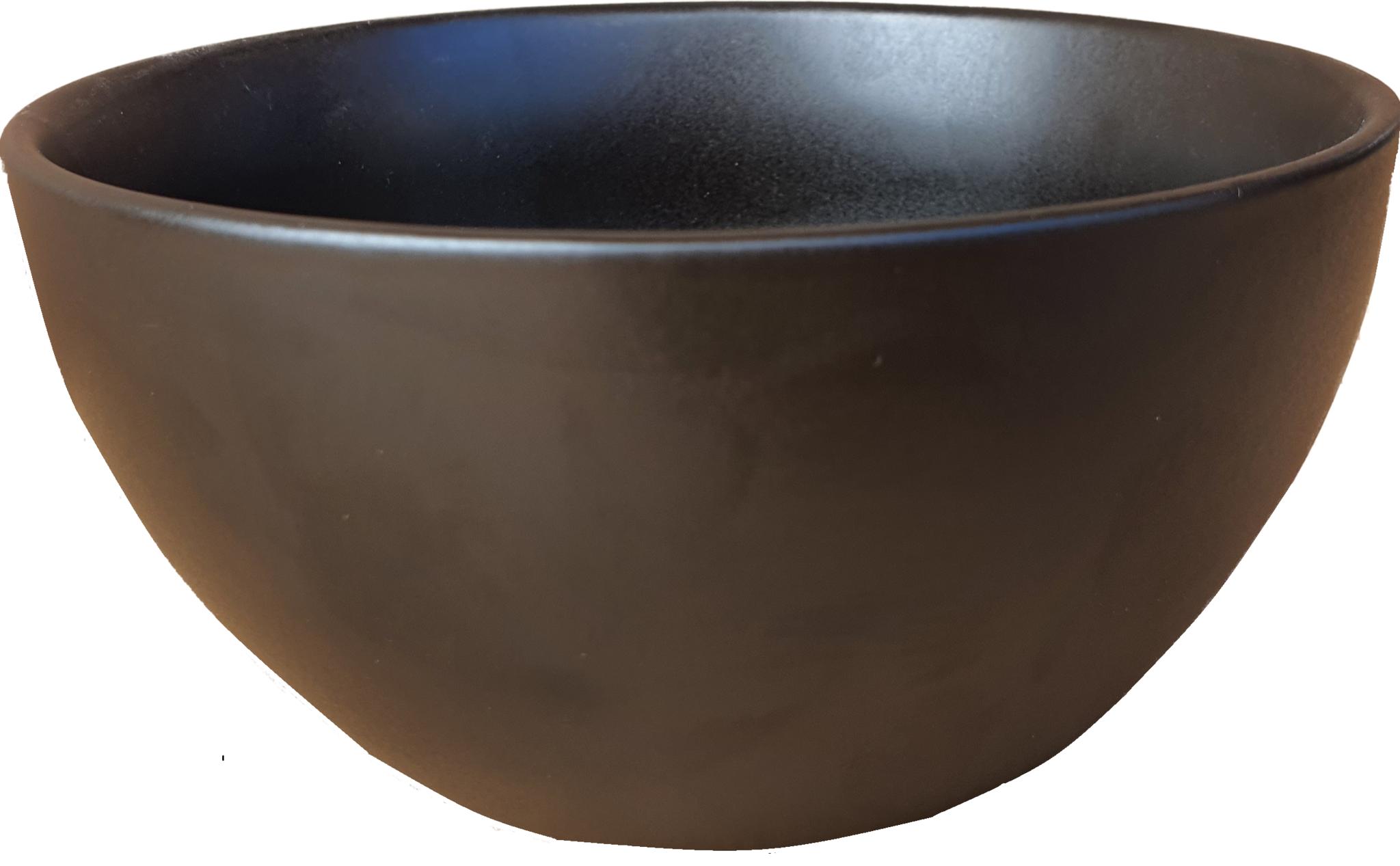 pot ceramic bowl black 14 cm-4