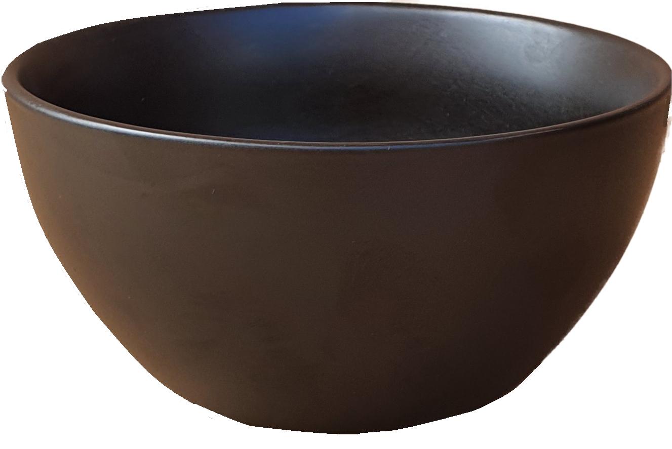 pot ceramic bowl black 14 cm-5
