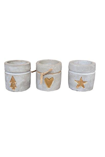 candle holder concrete 6 x 6.5 cm