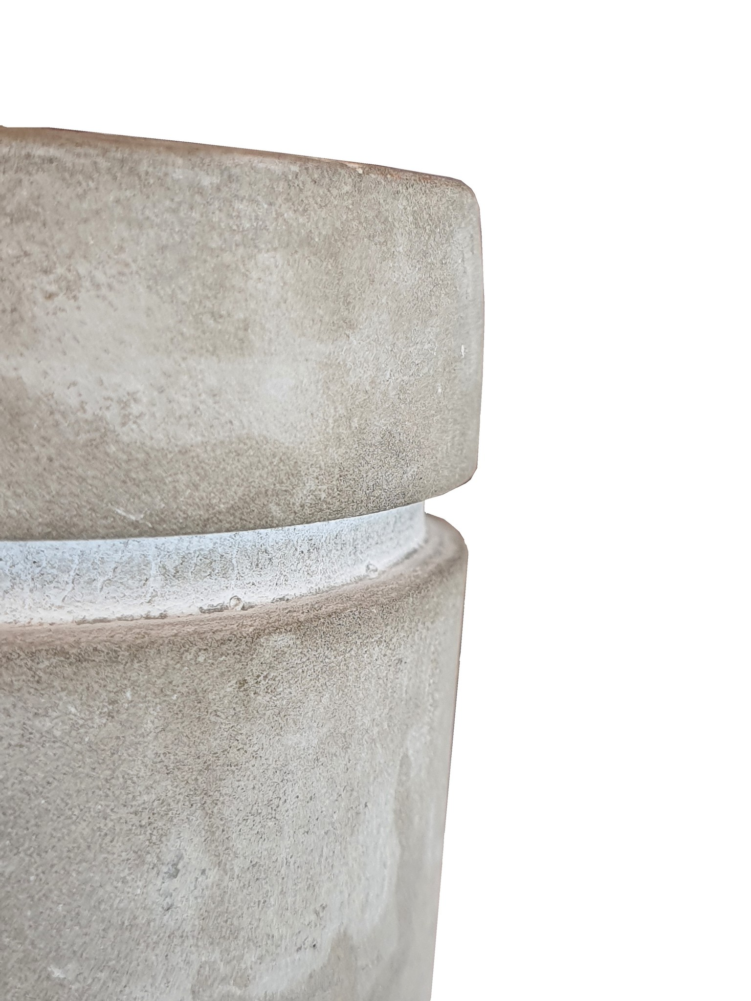 candle hold ceramic concrete gold assort 3-3
