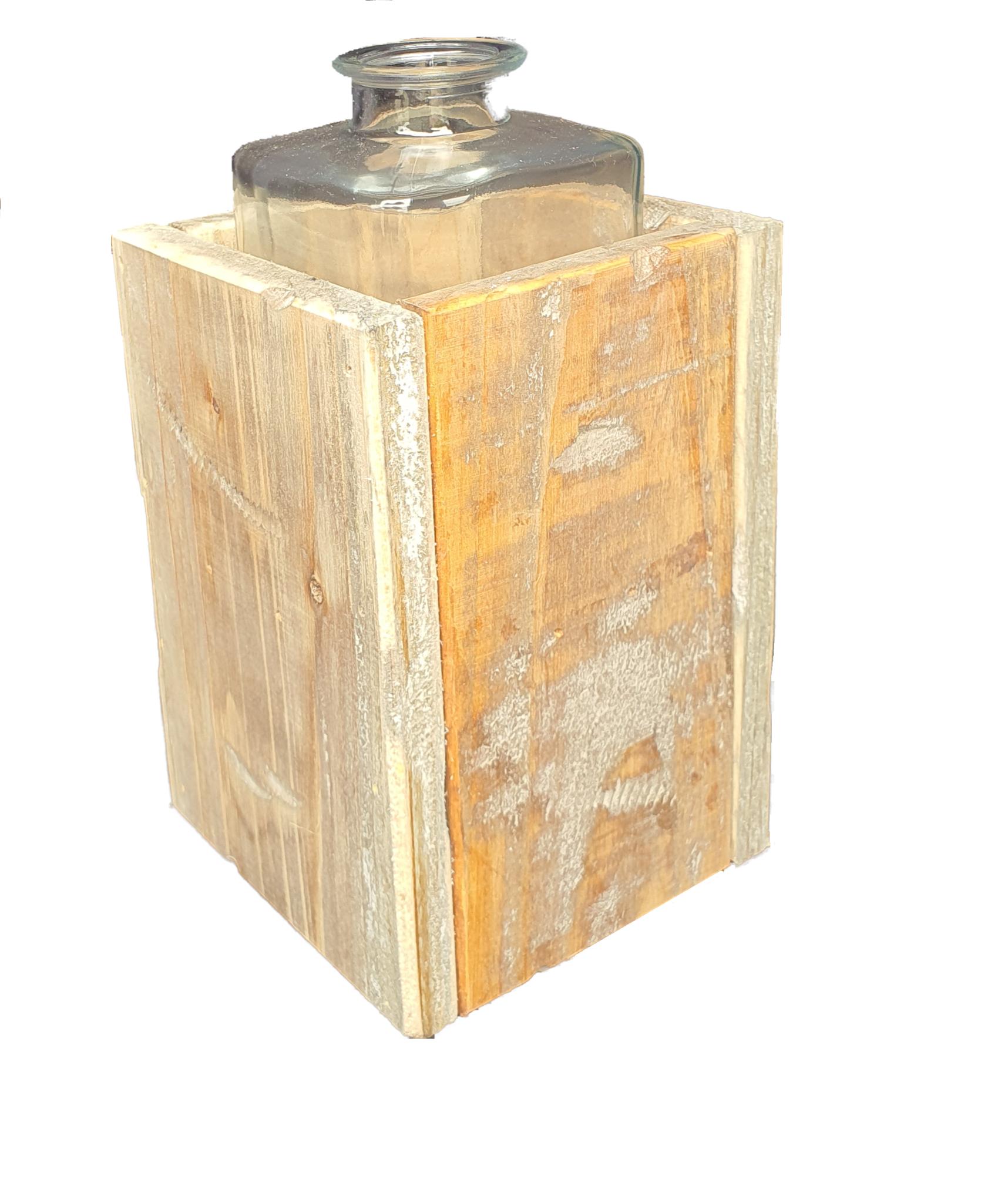 pot old dutchglass hold 2 sides 15-4