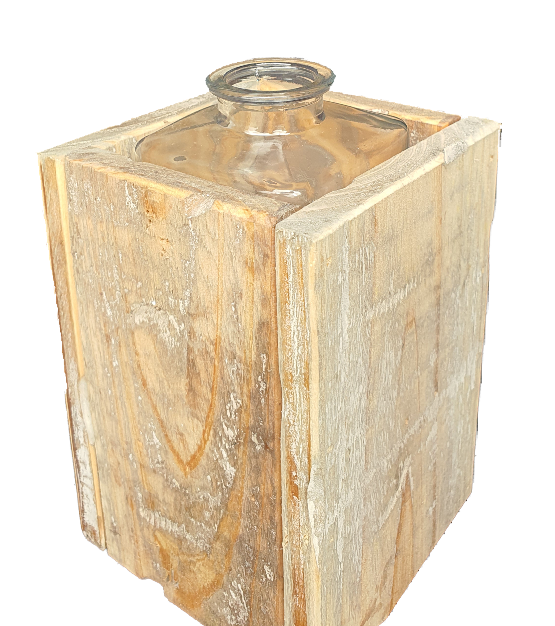 pot old dutchglass hold 2 sides 15-5