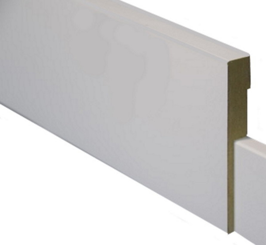 GLADDE OVERZETPLINT MDF-V313 22 x 70 mm