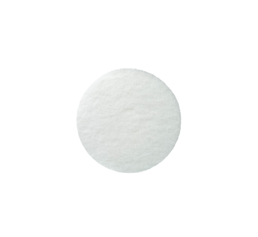 """witte pad 6"""" 20mm"""