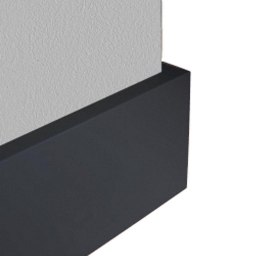 GLADDE FOLIEPLINT ZWART MDF-V313 15 x 58 mm