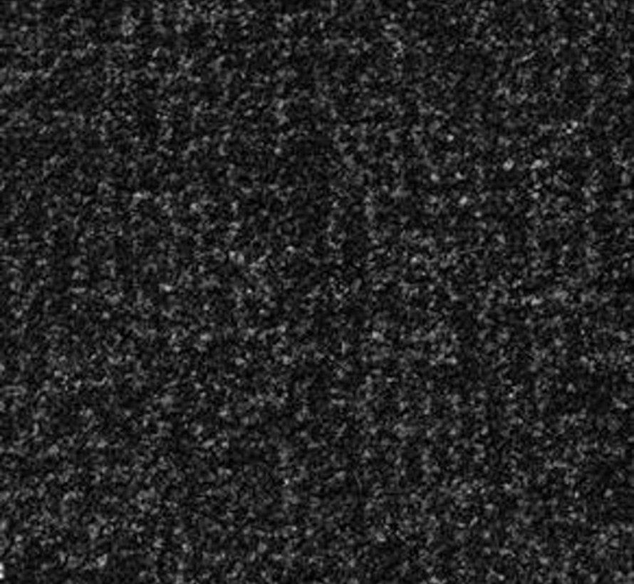 Zwart/grijs schoonloopmat 130 cm breed per 10 cm