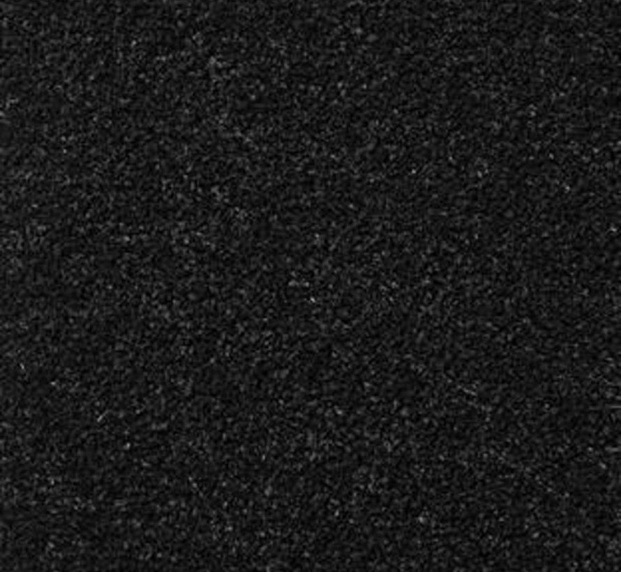 Zwart schoonloopmat 130 cm breed per 10 cm