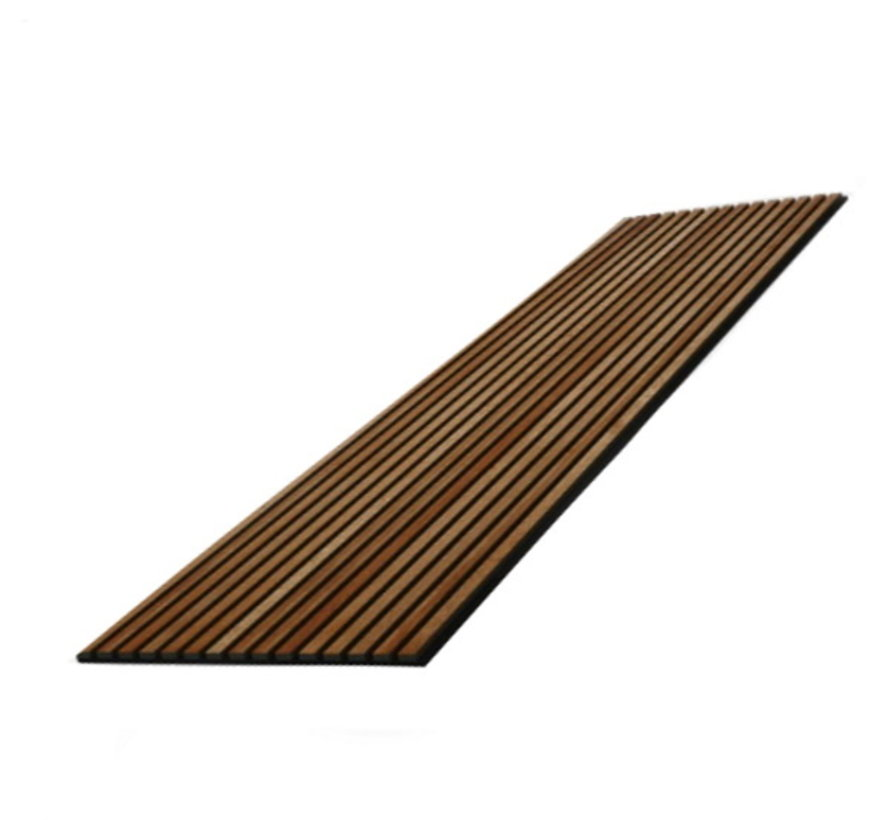 Wand paneel akoestiek rustiek eiken bruin 600X2400 MM