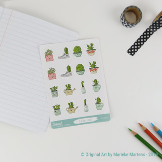 Cactus Cuties sticker sheet