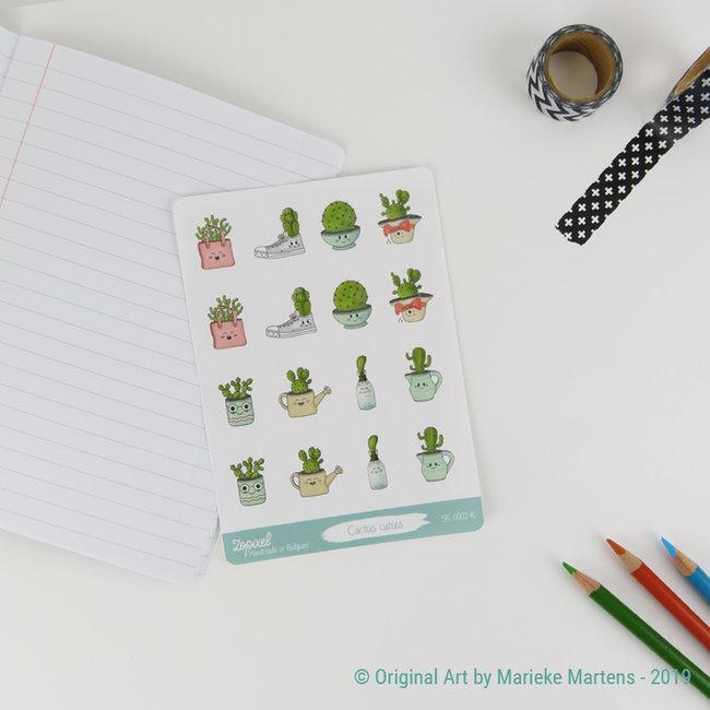 Cactus Cuties sticker sheet