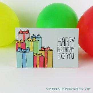 Cadeautjes - verjaardagskaart