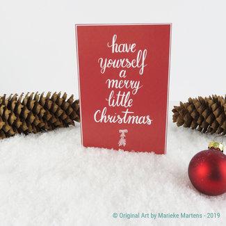 Merry little X-mas - christmas card