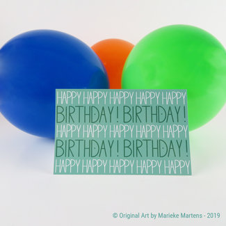Happy Birthday - verjaardagskaart