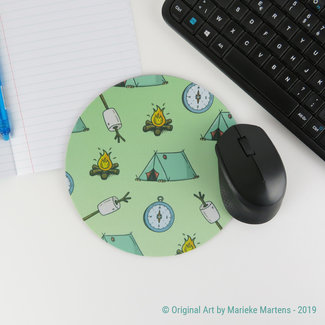 Camping Essentials Pattern - Mouse pad