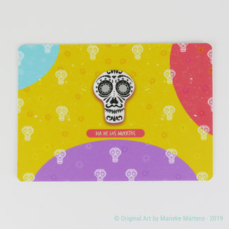 Dia de los muertos Face 3 - Postcard