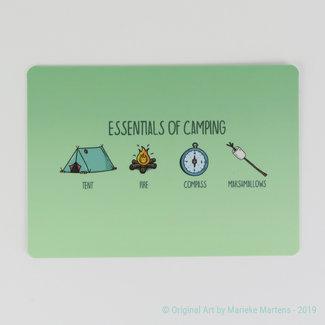 Camping Essentials - Postkaart