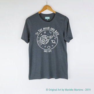To the moon and back T-shirt - Mannen