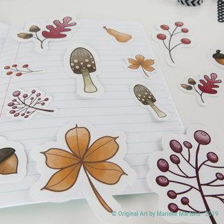 Autumn stickers - mixed sizes - set 1