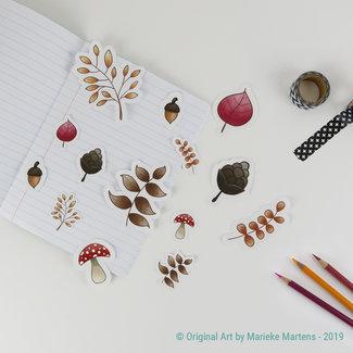 Autumn stickers - mixed sizes - set 2