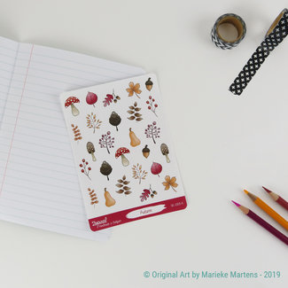Herfst sticker sheet