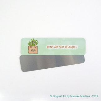 Cactus Tas - Boekenlegger - Aluminium Pocket