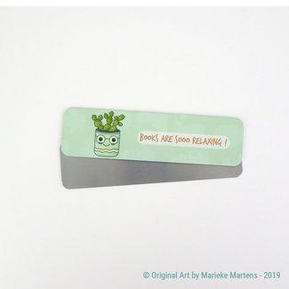 Cactus Bloempot - Boekenlegger - Aluminium Pocket