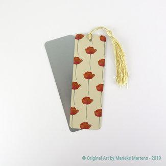 Poppies - beige - Bookmark - Aluminum Standard