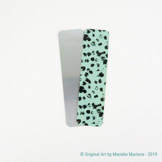 Cheetah  - blauw - Boekenlegger - Aluminium Pocket