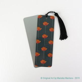Poppies - black - Bookmark - Aluminum Standard