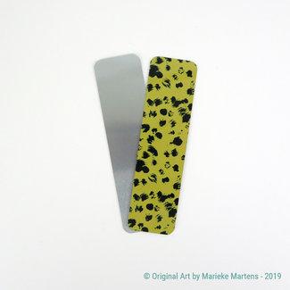 Cheetah  - goudbruin - Boekenlegger - Aluminium Pocket