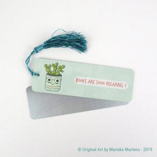 Cactus Flowerpot - Bookmark - Aluminum Standard