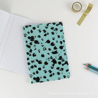 Cheetah blauw - Notitieboekje