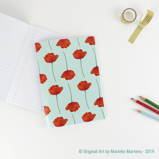 Poppies blue - Notebook