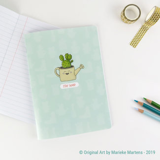Cactus Watering Can - Notebook