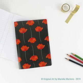 Poppies black - Notebook