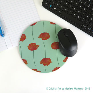 Poppies - Blue - Mouse pad