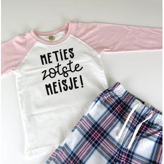 """Pyjama """"Meties/Peters meisje"""" - Personaliseerbaar - Kinderen - 0/36 maanden"""